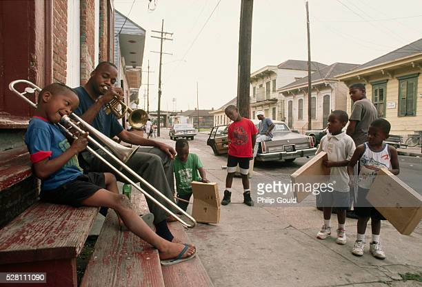 young new orleans musicians - new orleans city stock pictures, royalty-free photos & images