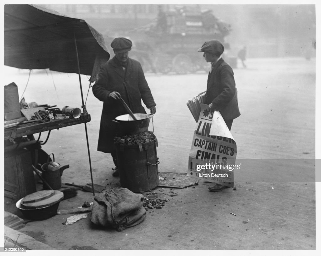 Newspaper Boy with Toffee Seller : News Photo