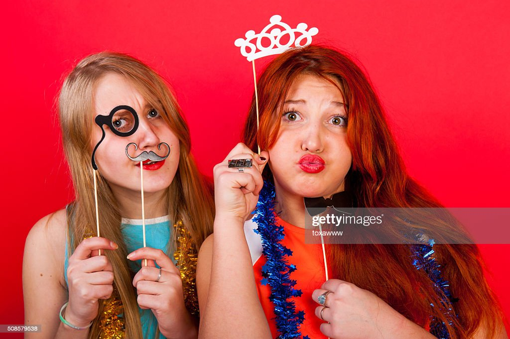 Young nice girls have fun : Stock Photo