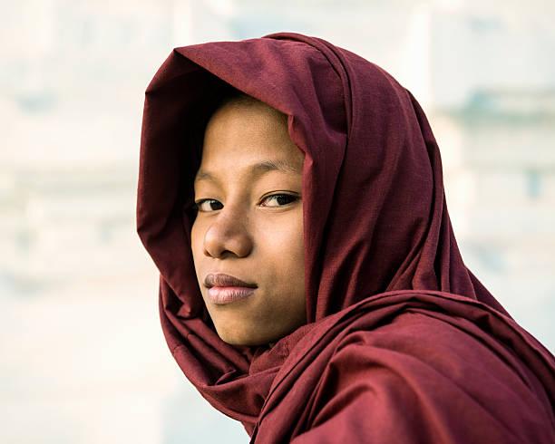 Young novice Buddhist monk
