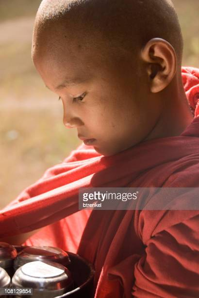 Young novice monk - close up