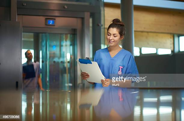 young nurse portrait in hospital