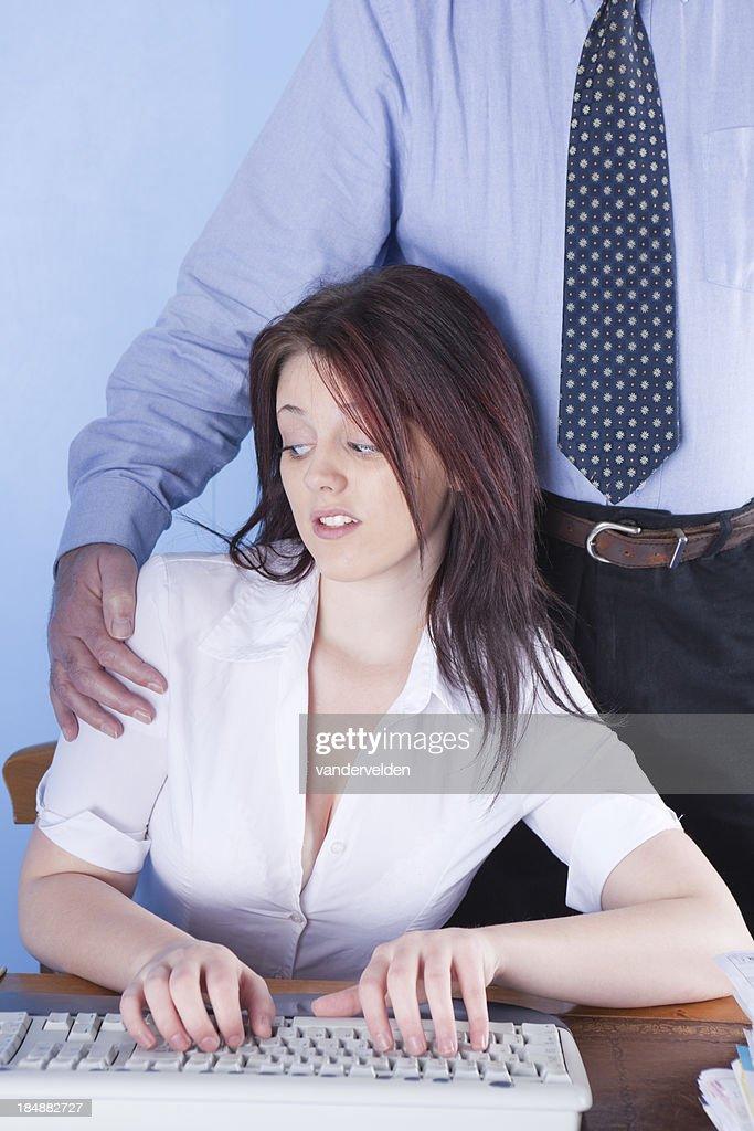 Busty office worker