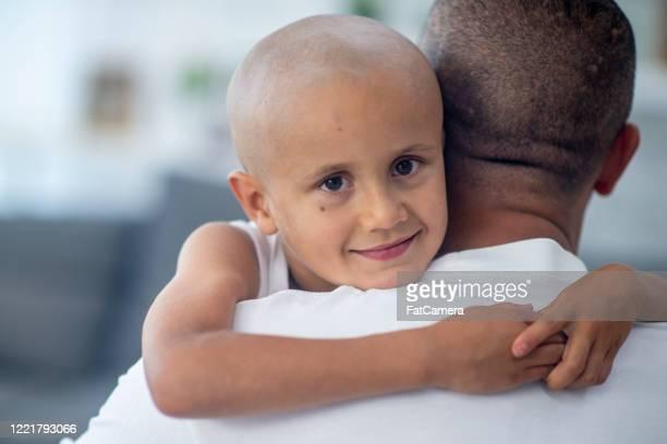 young oncology patient in hospital. - cancer illness imagens e fotografias de stock