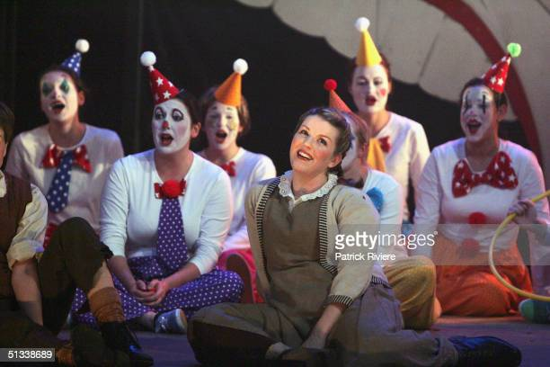 Young opera singer Penelope Mills performs during a dress rehearsal of Engelbert Humperdinck's Hansel and Gretel at the Independent Theatre September...
