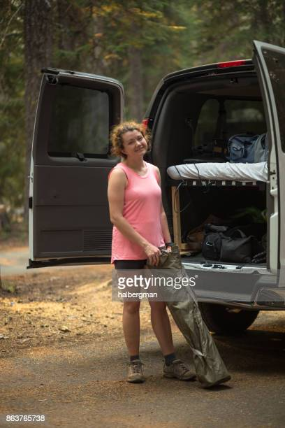 Young Outdoorsy Woman Living the Vanlife
