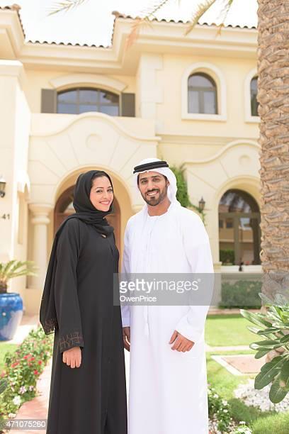 Young outside their luxury Dubai Villa