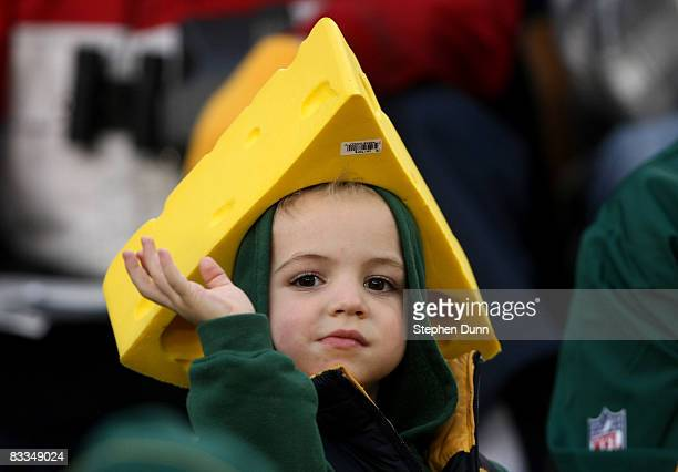 Young Packers fan looks on during the game between the Green Bay Packers and the Indianapolis Colts on October 19, 2008 at Lambeau Field in Green Bay...
