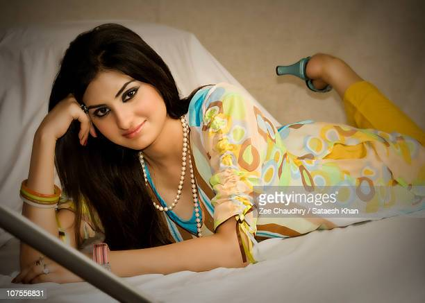young pakistani woman - pakistan stock pictures, royalty-free photos & images