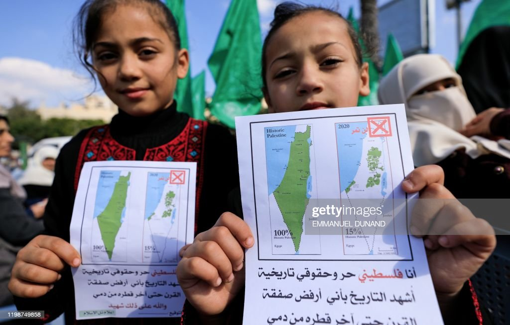 PALESTINIAN-ISRAEL-US-CONFLICT-DEMO : News Photo
