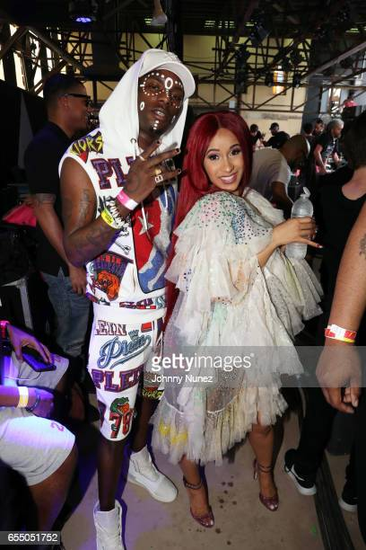 Young Paris and Cardi B attend Day 9 of the 2017 SXSW Conference And Festivals on March 18 2017 in Austin Texas