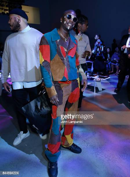 Young Paris attends Jeremy Scott collection during the September 2017 New York Fashion Week The Shows on September 8 2017 in New York City