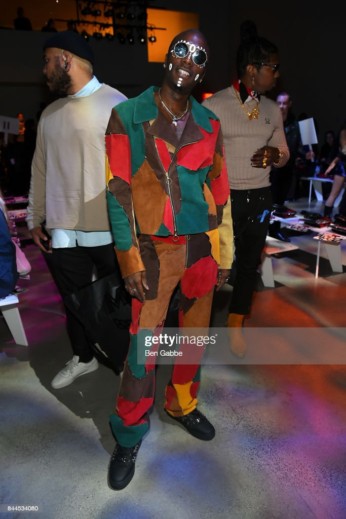Young Paris attends the Jeremy Scott Fashion Show during New York Fashion Week at Spring Studios on September 8, 2017 in New York City.