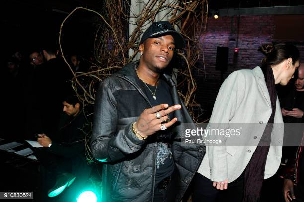 Young Paris attends the John Varvatos Fall/Winter 2018 Show Front Row at The Angel Orensanz Foundation on January 26 2018 in New York City