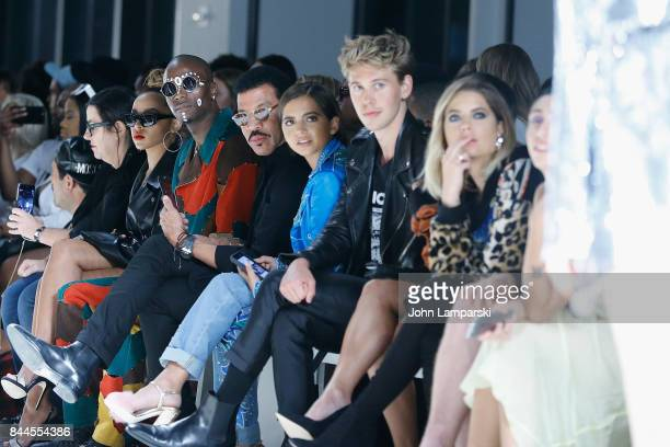Young Paris Lionel Richie Isabela Moner Austin Butler and Ashley Benson attend Jeremy Scott collection during the September 2017 New York Fashion...