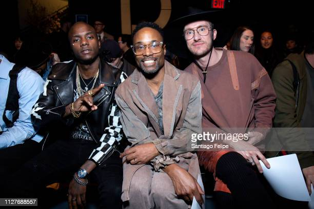 Young Paris NYFW Men's Ambassador Billy Porter and Adam Smith attend the Robert Geller show during New York Fashion Week Men's at Pier 59 Studios on...