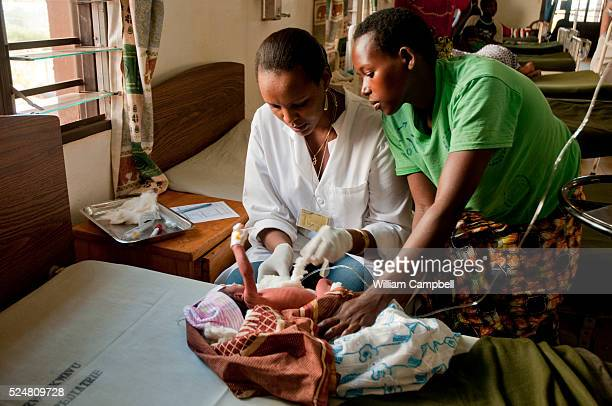 A young patient in the pediatric ward of the Partners In Health supported Rwinkwavu Hospital in southeastern Rwanda Rwanda has a universal health...