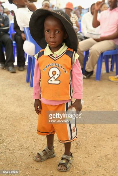 Young patient waits to have hearing aids fitted at Lesotho Cooperative College on October 10, 2013 in Maseru, Lesotho. Prince Harry's Charity...