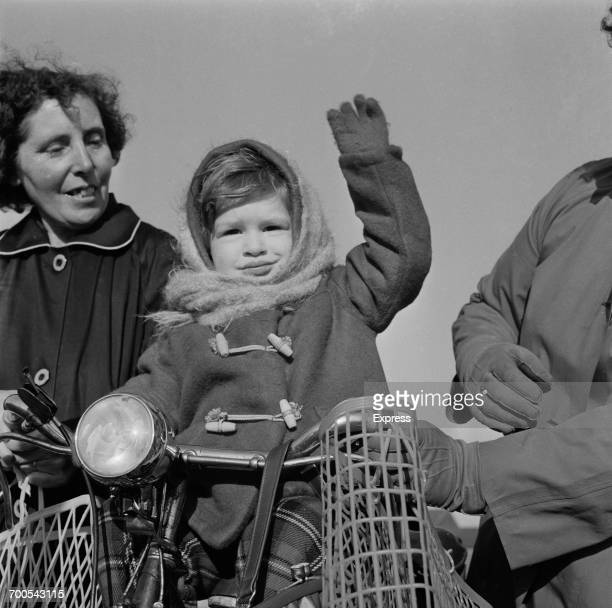 Young Paul Longthorne is among the bystanders during Prince Philip's visit to the Bird's Eye food processing plant in Lowestoft UK 18th November 1960