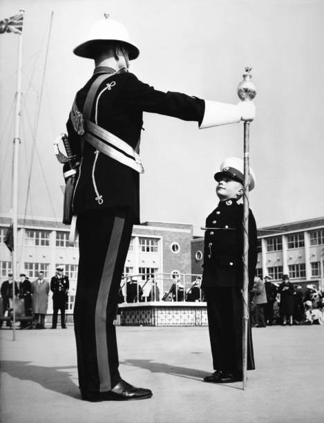 Young Boy In Uniform At Navy Ceremony
