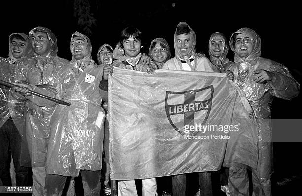 Young people attending the 7th National Friendship Day Fiuggi September 1983