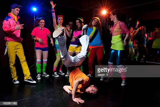 young people dancing - breakdancing stock photos and pictures
