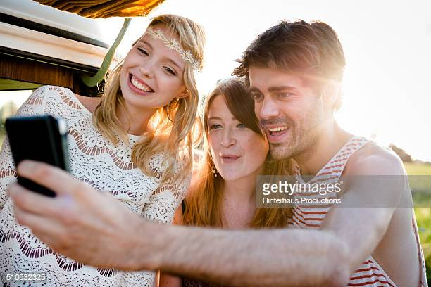 Young People Doing Selfie