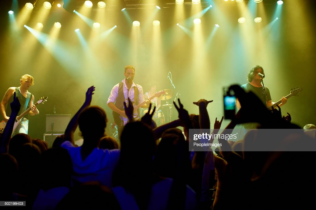 United by the music : Stock Photo