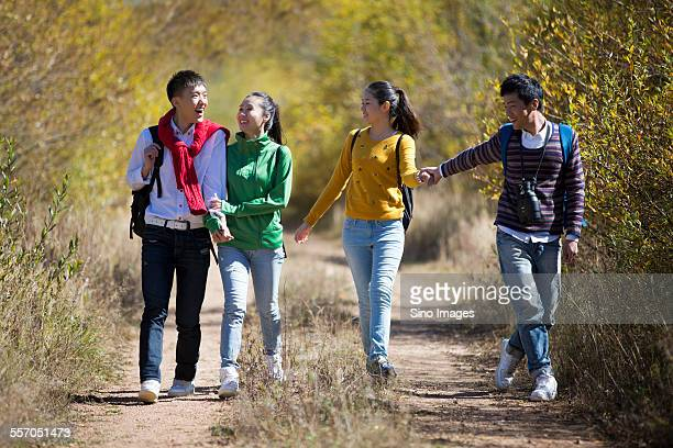 Young People Going for an Outing