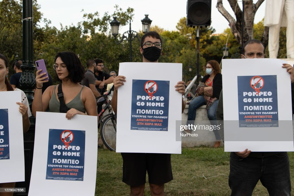 Protest Against The Visit Of Mike Pompeo, US Secretary Of State, In Greece : ニュース写真