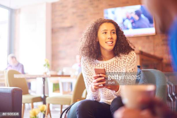 young people in a coffee shop