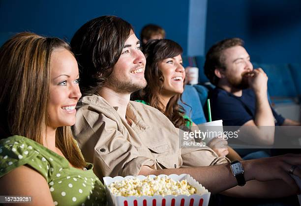 Young People in a Movie Theater