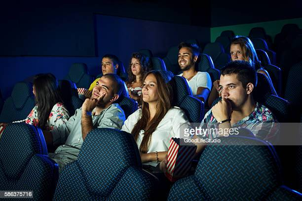 Young people in cinema