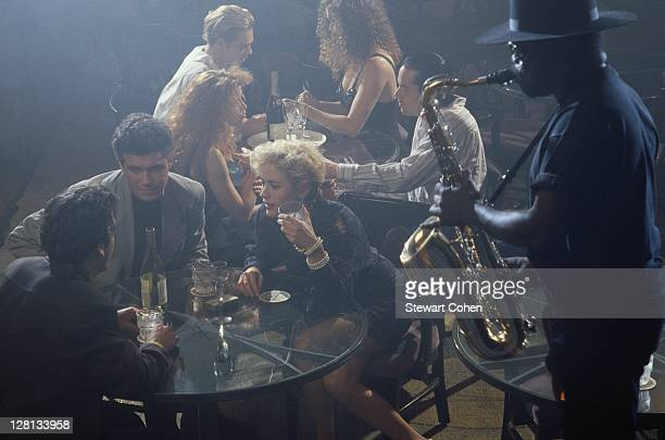 young people in club - jazz club stock pictures, royalty-free photos & images