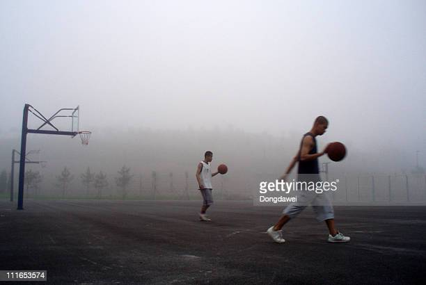 Young people in the fog at Dalian