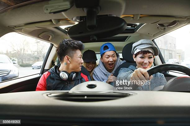 young people - 車内 ストックフォトと画像