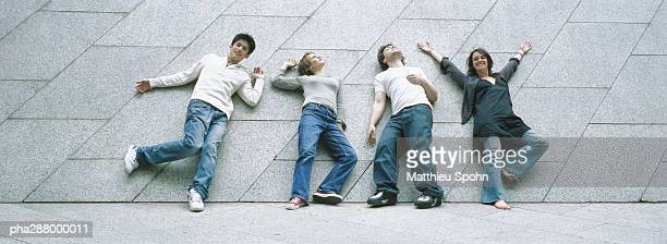 Young people striking poses