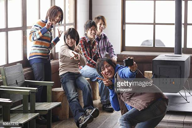 Young people taking a picture