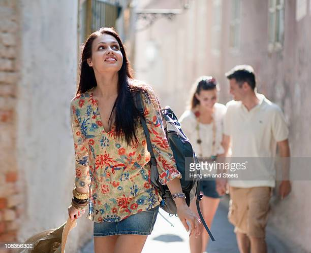 young people travelling together - zagreb stock pictures, royalty-free photos & images