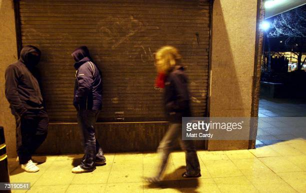 Young persons in hooded tops gather on a housing estate east of Bristol city centre February 1 Bristol England Bristol City Council is one of 40...