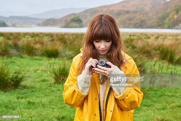Young photographer in Scottish Landscape