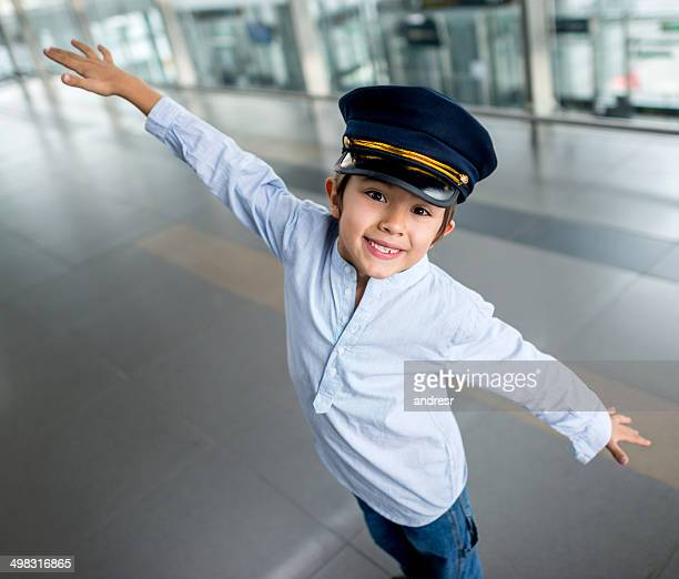 young pilot - aviation hat stock photos and pictures