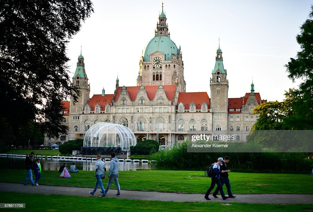 Pokemon GO Enthusiasts Play In Hanover : News Photo