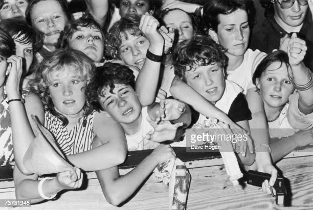 Young pop fans at a Duran Duran concert 1984
