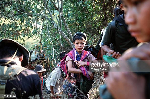 A young porter of a Free Burma Rangers team during a relief mission