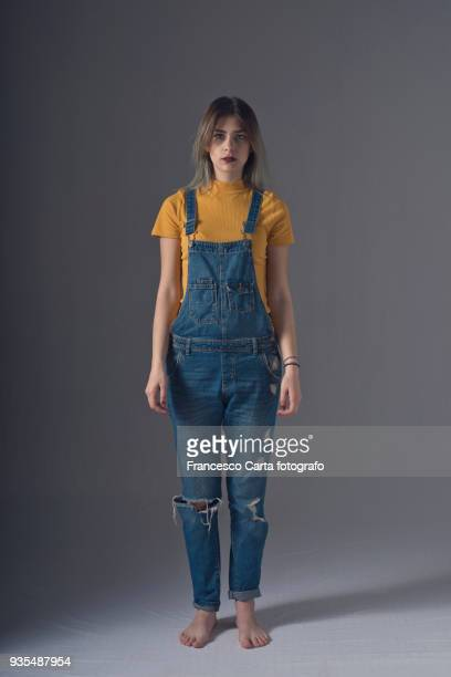 young portrait - dungarees stock pictures, royalty-free photos & images