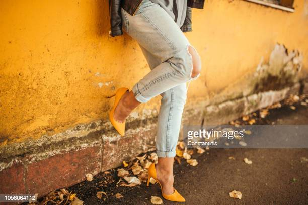 young pretty fashioned girl - high heels stock pictures, royalty-free photos & images