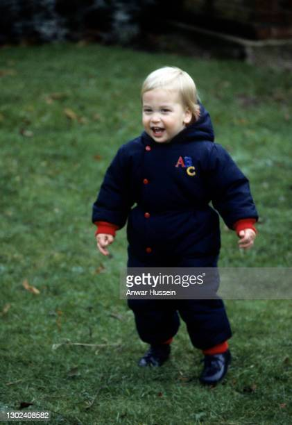 Young Prince William attends a photocall in the gardens of Kensington Palace on December 14, 1983 in London, England.