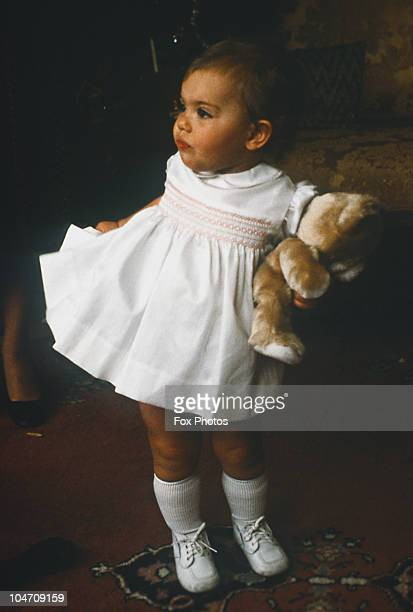 Young Princess Victoria of Sweden celebrates Christmas at the Royal Palace in Stockholm in December 1978