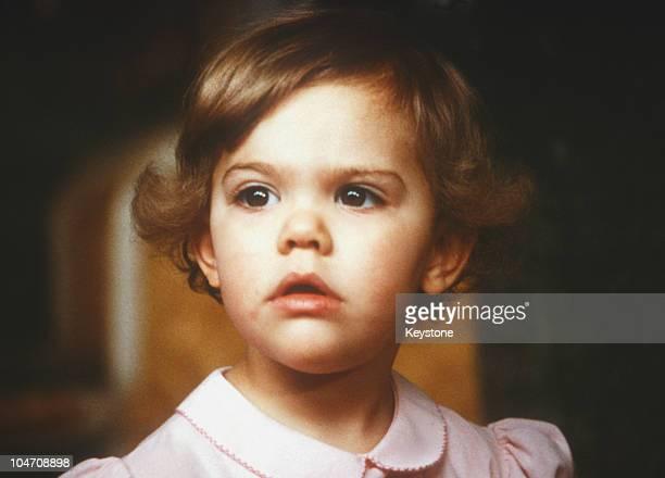 Young Princess Victoria of Sweden circa 1979